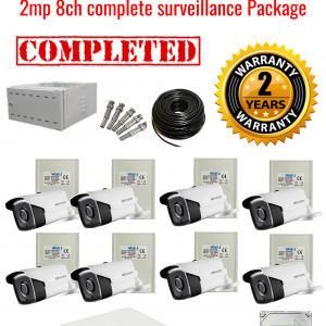 Hikvision CCTV 2MP Turbo HD Outdoor 8 Camera Surveillance Package (2 Years Warranty)
