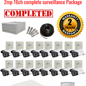 Hikvision CCTV 2MP Turbo HD Outdoor 16 Camera Surveillance Package (2 Years Warranty)