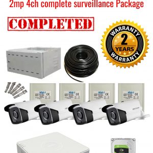 Hikvision CCTV 2MP Turbo HD Outdoor 4 Camera Surveillance Package (2 Years Warranty)