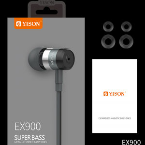 YISON EX900 Super Bass Headset Wired Earphone (Black)
